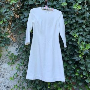 Pure white Kate Spade long sleeve dress